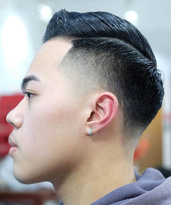 Medium Fade with Long Slick - Best Crew Cut Hairstyles