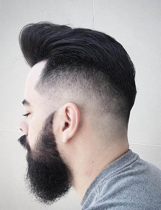 Modern Pompadour Haircut + Thick Beard