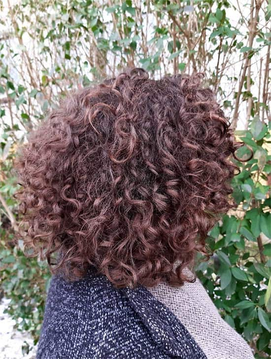 Nape Length Curly Hair