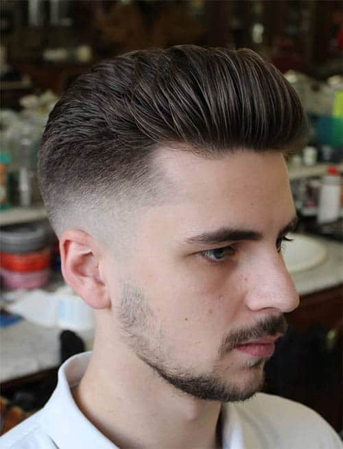 Pompadour + Fade - Pompadour Haircuts For Men