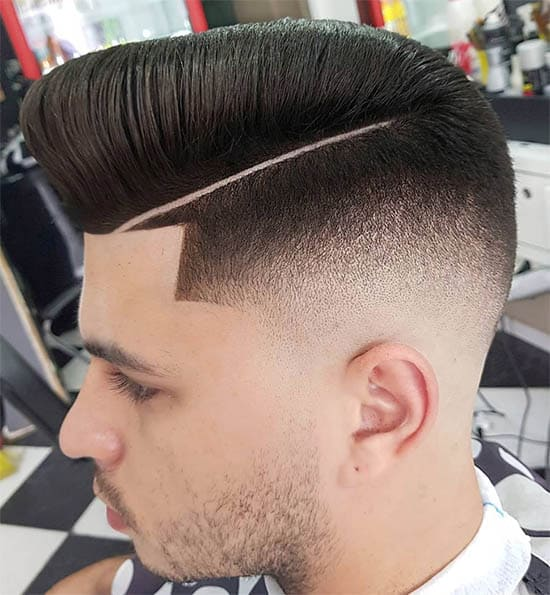 Pompadour Haircut + Hard Part