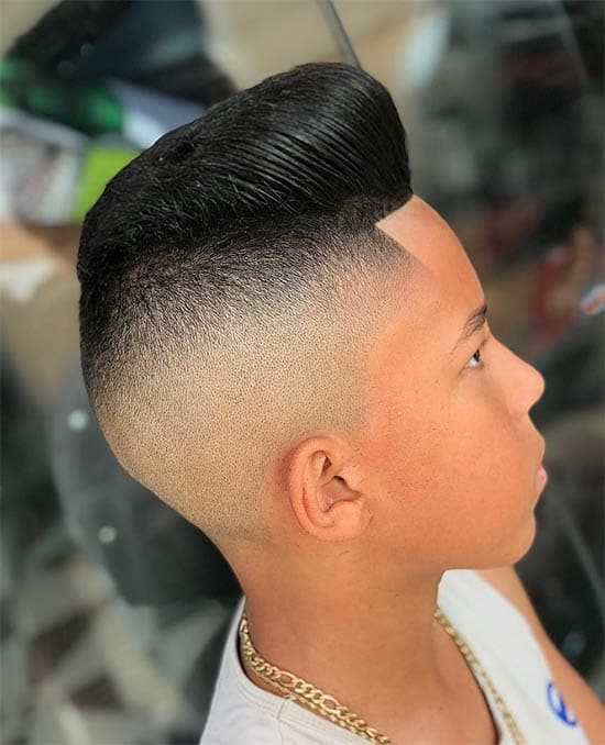 Pompadour + High Fade