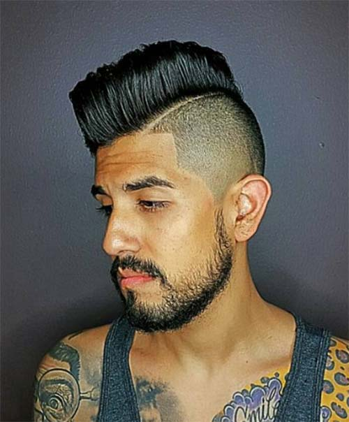 Punk Style High And Tight Haircut