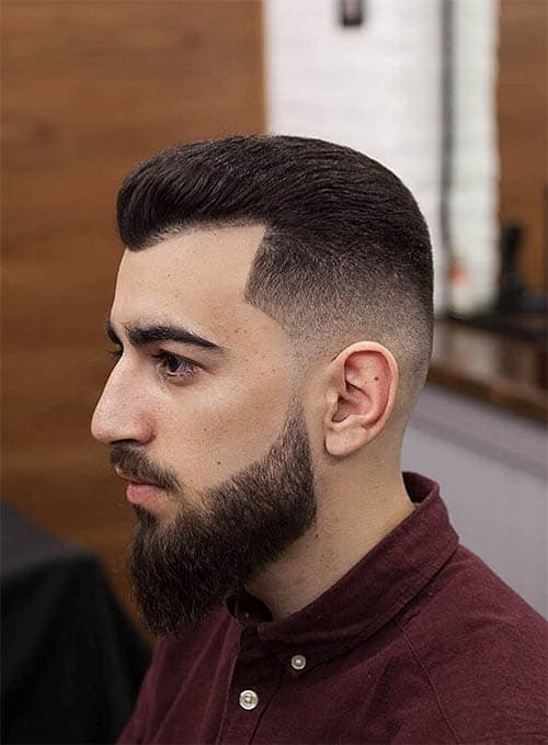 Razor Fade + Textured Pomp + Thick Beard