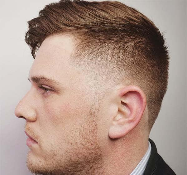 Side Swept High And Tight Haircut