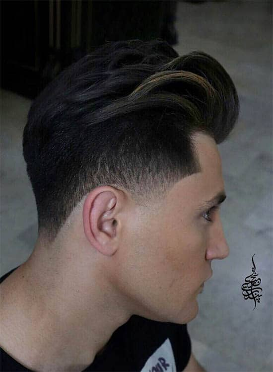 Skin Fade with Pompadour