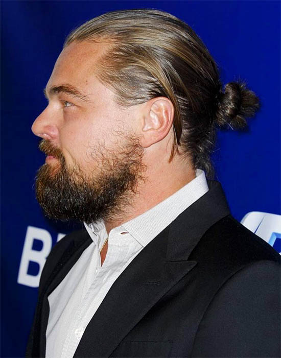 Slick Back - Best Man Bun Hairstyles