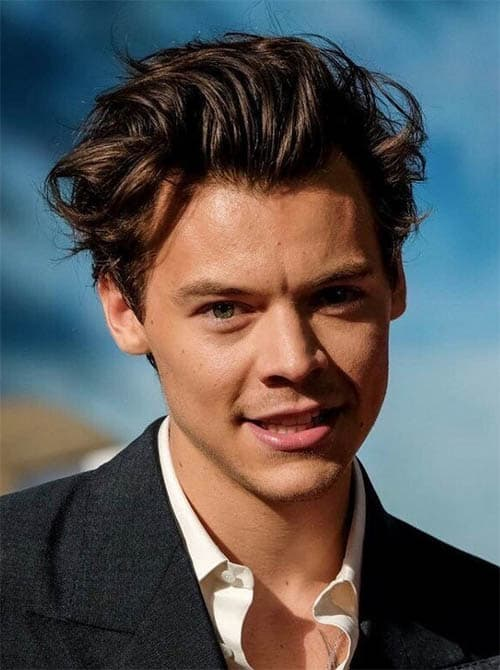Styled Up Bangs - Harry Styles Haircuts
