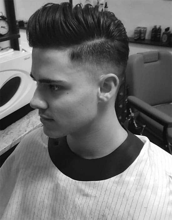 Tapered Pompadour + Side Part