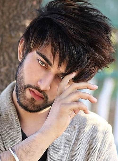 Thick Sweeping Bangs Best Haircuts For Men