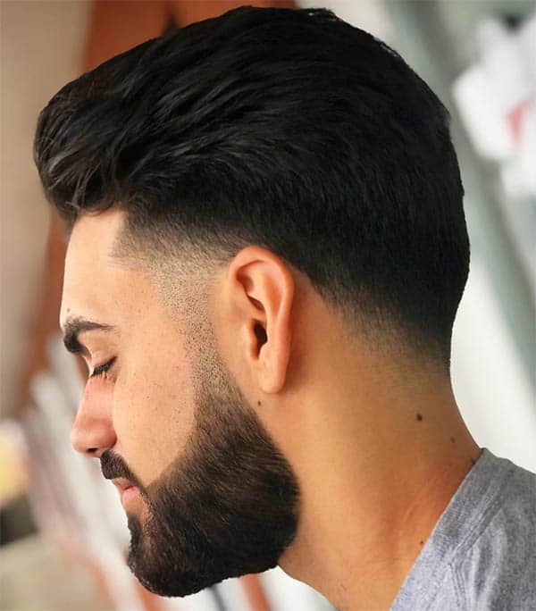 Wavy Pomp + Full Beard