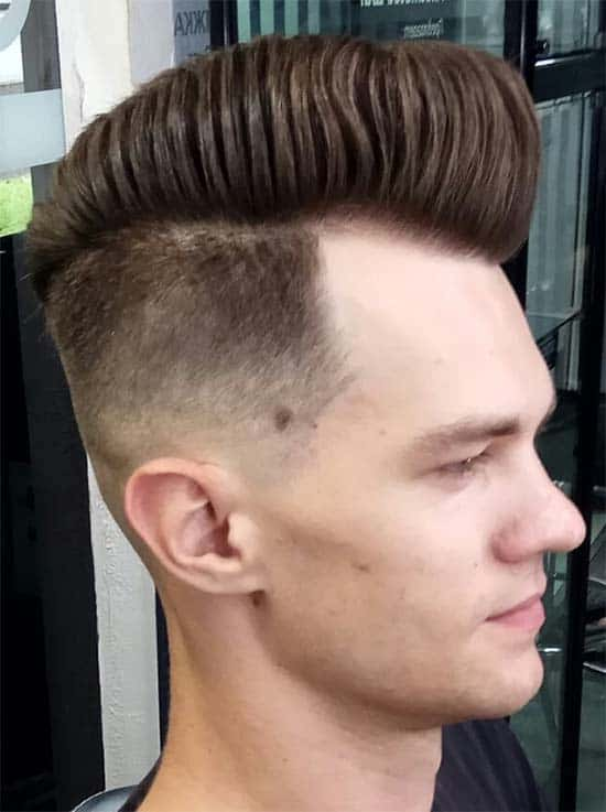 Wavy Pompadour + Hard Part