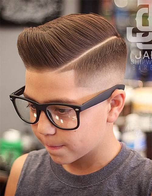 Comb Over Drop Fade