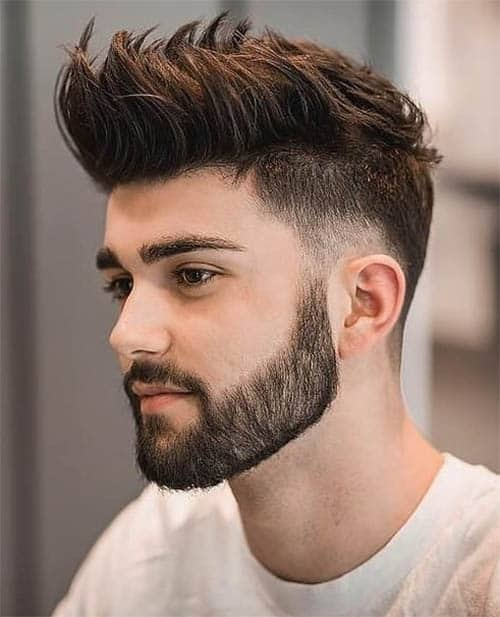 Drop Fade + Beard + Longer Top Hair
