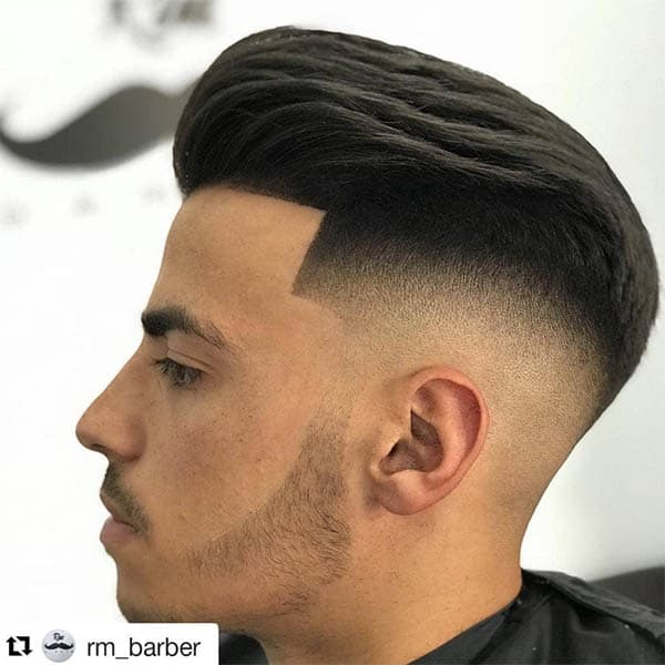 Drop Fade + Sleek Pompadour