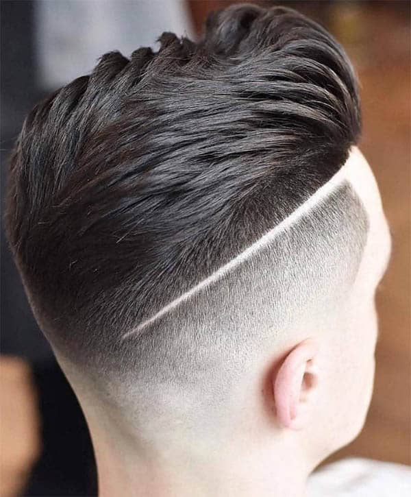 Drop Fade + Sweep Back