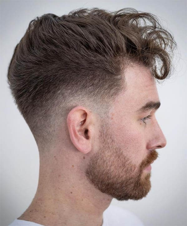 Drop Fade + Tapered Neckline