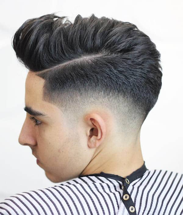 Layered Pompadour + Hard Part
