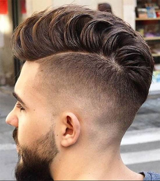 Loose Pompadour and High Fade