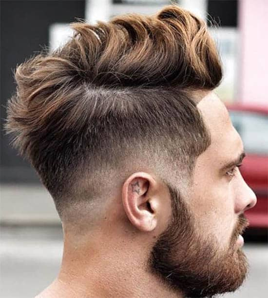 Low Fade With Long Messy Hair