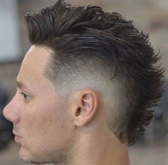 Modern Faux Hawk and Low Burst Fade